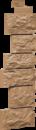 Облицовочная панель Угол Fineber Дикий камень Цвет Терракот