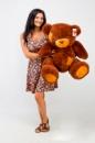 Плюшевый медведь Гриша 100 см коричневый