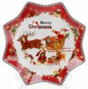 Тарелка фарфоровая «С рождеством!» Ø25см