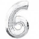 Цифра 6 из Фольги 90 см. (наполняется гелием)