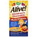 Nature's Way, Alive! Детские жевательные мультивитамины 120 жевательных таблеток