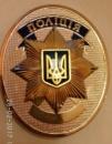Жетон поліції України на булавке з нанесенням номера