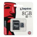 MicroSD 8Gb HC4 Kingston +перехідник на SD