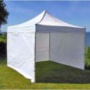 Торговая палатка белого цвета 3х3 + стены (на 3 стены)