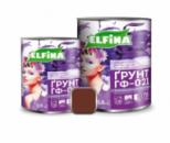 Грунт ГФ-021 0,9 кг, красно-коричневый, Elfina