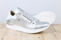 Женские кроссовки серебро