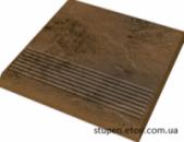 Ступенька рельефная простая структурная SEMIR BEIGE 30x30