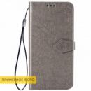 Кожаный чехол (книжка) Art Case с визитницей для Xiaomi Redmi 8a Серый