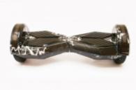 Гироборд 8 гироскутер сигвей с Bluetooth и колонками черный с молнией