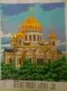 Картина бисером «Храм Христа Спасителя»