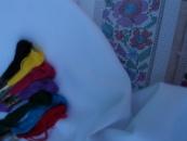 Біла домоткана делікатна бавовняна тканина «Салют»
