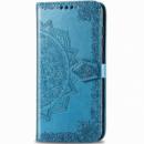 Кожаный чехол (книжка) Art Case с визитницей для Samsung Galaxy M20 Синий
