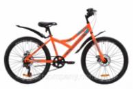 Велосипед ST 24« Discovery FLINT DD с крылом Pl 2020 (оранжево-бирюзовый с серым)