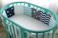 Овальная кроватка 7в1 Ovalbed Tiffany С УКАЧИВАНИЕМ