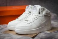 Зимние кроссовки в стиле Nike Air Force I, белые (30382),  [  45 46  ]