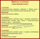 Стенд«Правила склонения существительных»