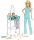 Барби Детский Врач Педиатр двумя малышами пупсами