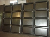 Ворота металлические «шоколадка»
