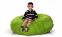 Зеленый кресло-мешок из велюра
