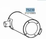 Глушник IVECO EUROSTAR CURSOR/EUROTECH CURSOR/STRALIS 41210965, 28450 (вироб-во HOBI)