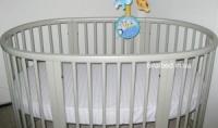 Овальная кроватка трансформер 7в1 Ovalbed Gray - серая