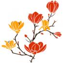 Виниловая Наклейка Glozis Magnolia Orange