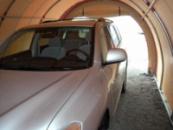 Тентовый гараж. Гараж для больших автомобилей. 5,5х4х2,5 Гараж каркасный тентовый. по Украине