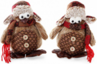 Новогодняя мягкая игрушка «Пингвин» 16х9х18см