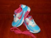 Женские кроссовки Nike Air Max голубые с розовым