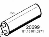 Глушник MAN L2000/M2000 81151010272, 81151010271, 47300 (вироб-во HOBI)