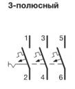 Автоматические выключатели Hager 6 кА, хар-ка С, 3 полюса