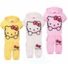 Детский летний костюм Hello Kitty, розовый