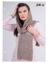 Тёплый длинный шарф женский шерсть+ ангора