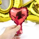 Фольгированный шар Сердце красное микро 5'' 12 см