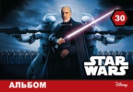 Альбом для рисования «STAR WARS» 30 л. (скоба)