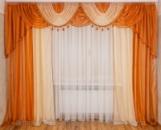 Шифоновые шторы с ламбрекеном «Ева»