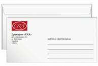 Печать на конверте DL
