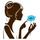 Наклейка Декоративная Girl with Flower