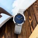 Часы наручные Calvin Klein 2140CF Silver-Blue Small