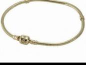 Золото Пандора браслет Pandora напыление на серебро,стоит Проба s 925 Ale,позолота,позолоченный Пандора браслет основа
