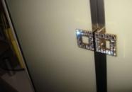Шкаф с ручками сваровских « Елвира»
