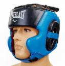 Шлем для бокса кожаный EVERLAST закрытый EV-5241-В  синий