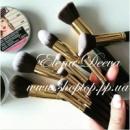 Набор кистей для макияжа 10 штук (Черные,белые,розовые)