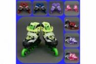 Ролики 1001 Best Rollers, от 31 до 42 размера. Колеса PU, переднее колесо свет, в сумке