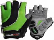Велорукавички PowerPlay 5037 Чорно-зелені XS