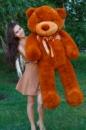 Большой плюшевый медведь Тедди 180 см коричневый