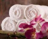 Полотенце отельное (белое) банное
