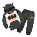 Розничная новинка 2015 дети костюмы костюм бэтмен одежда дети толстовки + дети брюки спортивный костюм мальчики одежда к