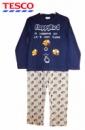 Пижама хлопковая «Flappy Bird», синяя с серым, бренд «Tesco (F&F)»