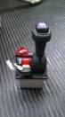 кран, джойстик, рычаг управления для подъема кузова самосвала